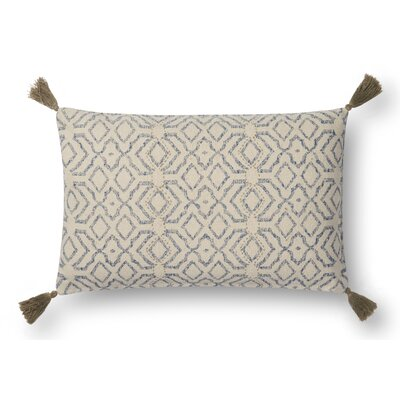 Melton Lumbar Pillow Cover Color: Blue