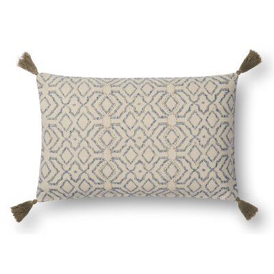 Greene Lumber Pillow Color: Blue