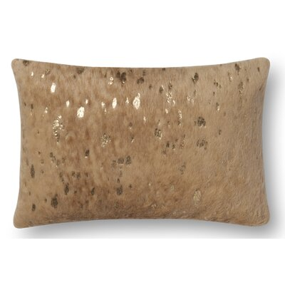 Hughes Lumbar Pillow Color: Mahogany
