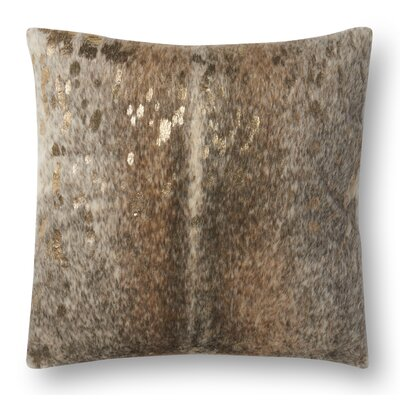 Humphrey Throw Pillow Cover Color: Khaki
