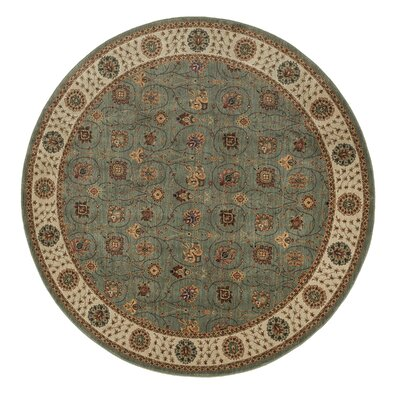 Stanley Green/Brown Area Rug Rug Size: Round 77