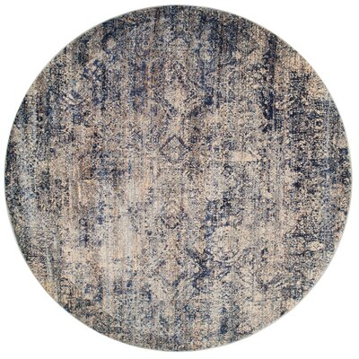 Postale Blue/Mist Blue Area Rug Rug Size: Round 53