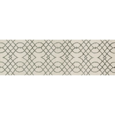 Kirkbride Ivory/Gray Area Rug Rug Size: Runner 23 x 79