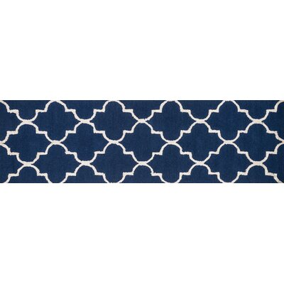 Panache Navy/Silver Area Rug Rug Size: Runner 23 x 79