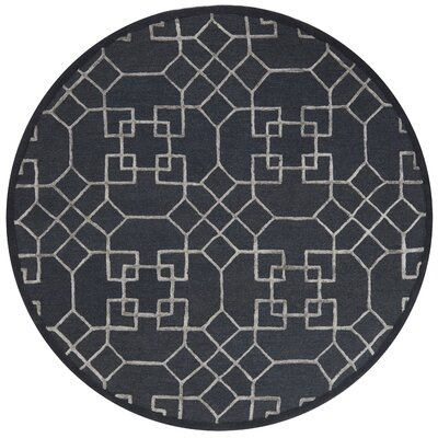 Kirkbride Charcoal/Silver Area Rug Rug Size: Round 76