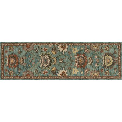 Underwood Blue Area Rug Rug Size: Runner 26 x 76