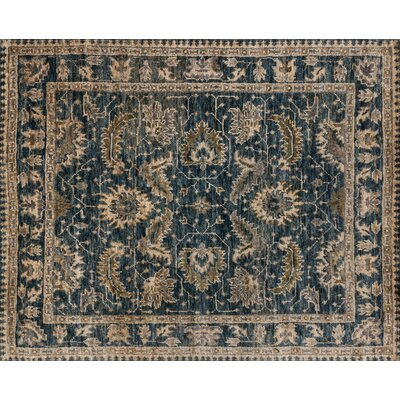Empress Hand-Knotted Indigo/Slate Area Rug Rug Size: Rectangle 79 x 99