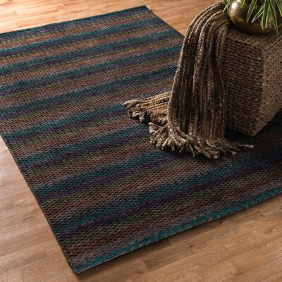 Turnage Hand-Woven Blue/Brown Area Rug Rug Size: Rectangle 5 x 76