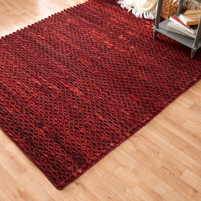 Zavala Hand-Woven Red Area Rug Rug Size: Rectangle 710 x 11