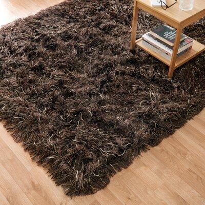 Royal Hand-Woven Brown Area Rug Rug Size: Rectangle 36 x 56