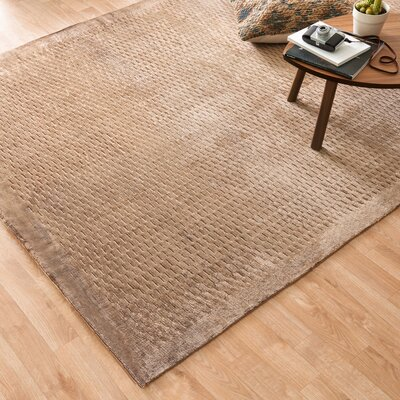 Zaragoza Hand-Woven Brown Area Rug Rug Size: Rectangle 86 x 116