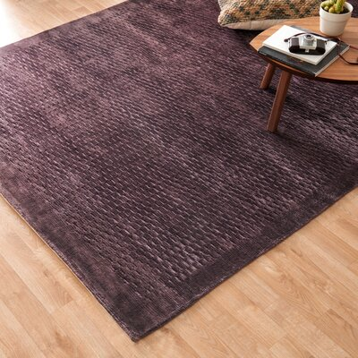 Westley Hand-Woven Dark Gray Area Rug Rug Size: 86 x 116