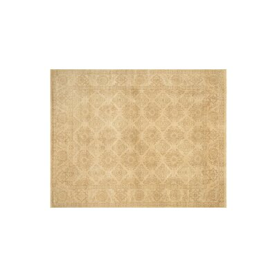 Vernon Hand Knotted Wool Ivory Area Rug Rug Size: 5'6