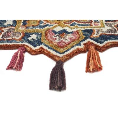 Rashida Hand-Hooked Wool Navy/Spice Area Rug