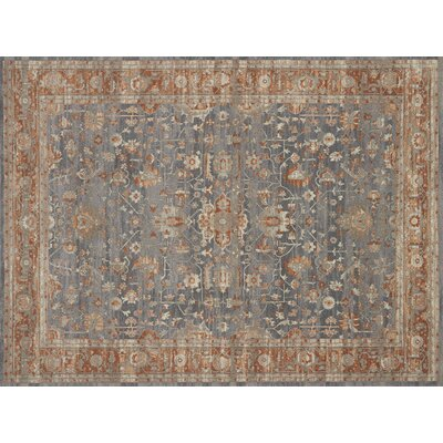 Adelbert Oriental Gray Area Rug� Rug Size: Rectangle 53 x 76