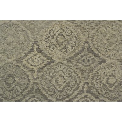 Cherrelle Hand-Hooked Wool Gray Area Rug� Rug Size: Rectangle 36 x 56