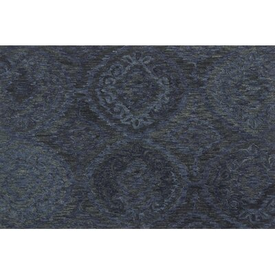 Cherrelle Hand-Hooked Wool Navy Area Rug� Rug Size: Rectangle 79x99
