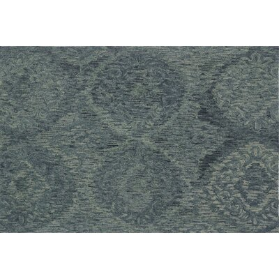 Cherrelle Hand-Hooked Wool Teal Area Rug� Rug Size: Rectangle 5 x 76