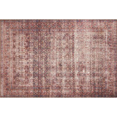 Raul Eggplant/Crimson Area Rug� Rug Size: Rectangle 76 x 96