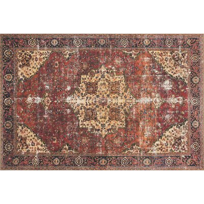 Raul Red/Navy Area Rug� Rug Size: 36 x 56