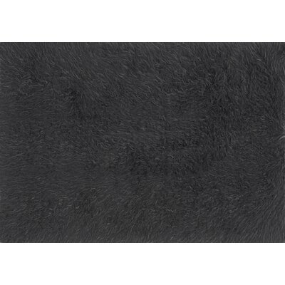 Parham Charcoal/Gray Area Rug� Rug Size: Rectangle 5 x 76