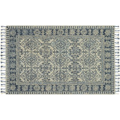 Rana Hand-Hooked Wool Mist/Blue Area Rug� Rug Size: Rectangle 36 x 56