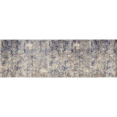 Anastasia Blue/Mist Blue Area Rug Rug Size: Runner 27 x 8