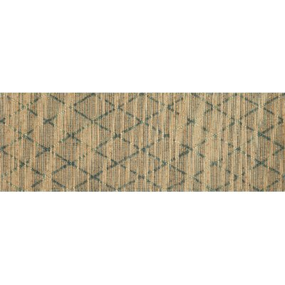 Beacon Hand-Woven Brown/Aqua Area Rug Rug Size: Runner 26 x 76