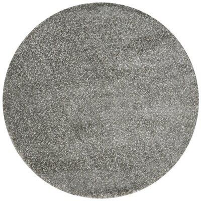 Hackel Gray Area Rug Rug Size: Round 710