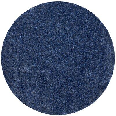 Hackel Blue Area Rug Rug Size: Round 710