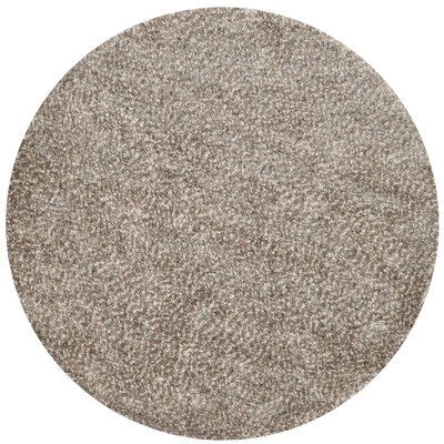 Hackel Hand-Tufted Light Brown Area Rug Rug Size: Round 710