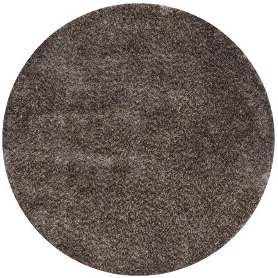 Callie Shag Hand-Tufted Dark Brown Area Rug Rug Size: Round 710