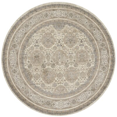 Adelbert Sand/Taupe Area Rug Rug Size: Round 77