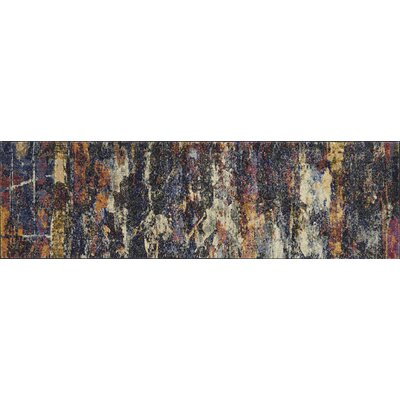 Dreamscape Orange/Black Area Rug Rug Size: Runner 23 x 10