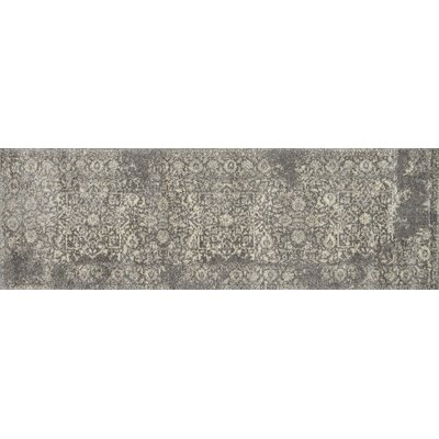 Emory Hand-Woven Charcoal/Ivory Area Rug Rug Size: Runner 25 x 77