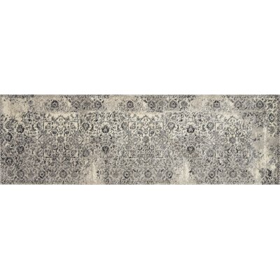 Emory Ivory/Charcoal Area Rug Rug Size: Runner 25 x 77