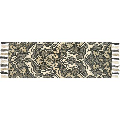 Farrah Black/Brown Area Rug Rug Size: Runner 26 x 76