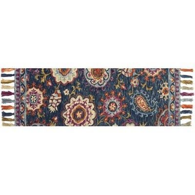 Farrah Blue Area Rug Rug Size: Runner 26 x 76