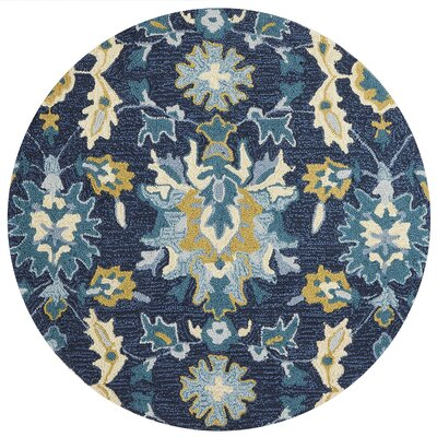 Kips Bay Hand-Hooked Blue/Beige Area Rug Rug Size: Rectangle 23 x 39