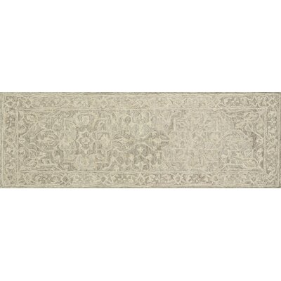 Lyle Hand-Hooked Taupe Area Rug Rug Size: Runner 26 x 76