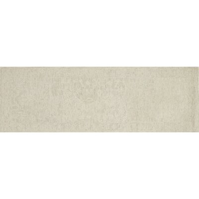 Lyle Hand-Hooked Bone Area Rug Rug Size: Runner 26 x 76