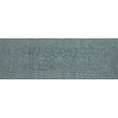 Darryl Hand-Hooked Teal Area Rug Rug Size: Runner 26 x 76