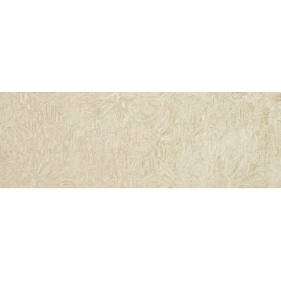 Darryl Hand-Hooked Sand Area Rug Rug Size: Runner 26 x 76
