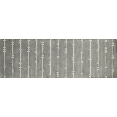 Pals Gray/Ivory Area Rug Rug Size: Runner 26 x 76