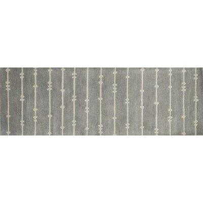 Nova Gray/Ivory Area Rug Rug Size: Runner 26 x 76