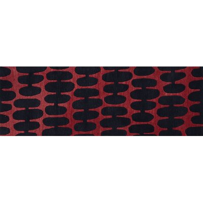 Earnhart Red/Black Area Rug Rug Size: Runner 26 x 76