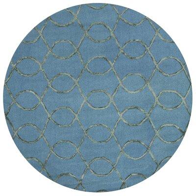 Panache Blue Area Rug Rug Size: Round 76