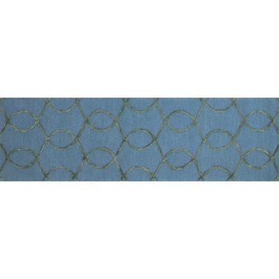 Panache Blue Area Rug Rug Size: Runner 23 x 76