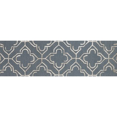 Kirkbride Slate/Taupe Area Rug Rug Size: Rectangle 76 x 96