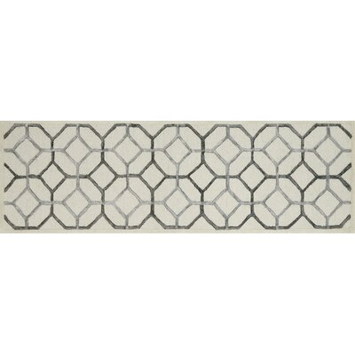 Panache Ivory/Gray Area Rug Rug Size: Runner 23 x 76